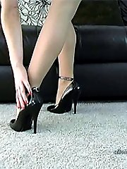 Jodie wants to walk on you in her high heel shoes, starting first on your back she will then...