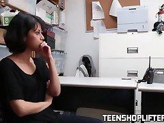 Slutty brunette teen rammed hard by cop