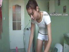 czechian Natasha at water closet