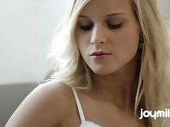 Big Breasted Blonde Cums Twice Featuring Joymii Miela