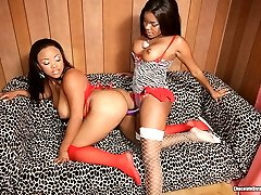 Two Hot Black Chicks Go At It Together