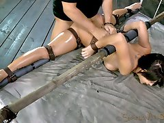 This is Sofia Delgado's first bondage shoot, ever. She has only been in the industry for a few months but we aren't going to let her hide behind her inexperience. Her flexible little 5'3