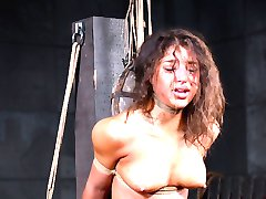 Girls like Abella Danger come to Jack Hammer and ask to be tied up. She probably thought she'd get some rope around her wrists and ankles, holding her body spread eagle. She may have even anticipated the breast harness he puts on her. What she probably didn't see coming was an intense, vibrating orgasm while she struggles in a partial suspension. And she definitely never dreamed of what would come next.