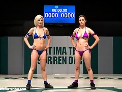 SEASON NINE MATCH UP!        IONA GRACE  Tenacious DD HT: 5\'3 WT: 114lbs Season record (1-1)  Lifetime record (1-1)  SHAE SIMONE  The Saboteur HT: 5\'2 WT: 107lbs Season record (0-0)  Lifetime record (0-0)    Iona Grace is currently (1-1) this season. This feisty big boobed wrestler is all guts and determination. Iona has improved every aspect of her game since she first took the mat. She takes wrestling very seriously, she puts everything she has into each match.  If every girl had her determination the world would be a much better place.  Welcome Shae Simone to the Ultimate Surrender mat.  This tiny blond makes a great addition to the Featherweight roster.  What Shae lacks in experience she more than makes up for in grit and perseverance.  This girl never gives up. Even after she is made to cum on the mat she never gives up!  Iona was relentless. Brutal leg locks, head locks, body scissors and submission holds. Iona made Shae orgasm on the mat, the Ultimate of Surrender.  Iona dominated every aspect of this match!  In RD4 Iona picked it up another notch and gave Shae the fucking and beatdown of her life!Ultimate Surrender, the only non-scripted real wrestling league on the net.