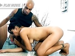 Alexandra Senna snagged herself a black fuckbuddy and welcomes his big wang in her mouth and hairy pussy