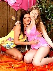 Two tart teen lesbians play