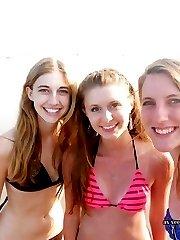 Hot bikini lesbian teens