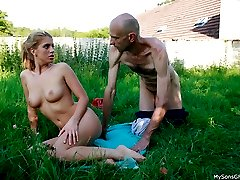 Super sultry girlfriend fools around nude and ends up being nailed by bfs dad