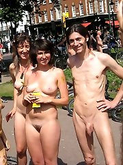 Naked amateurs in groups