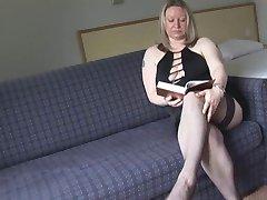 Mature lady playing alone