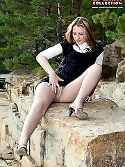 Hot citizens with naughty upskirts
