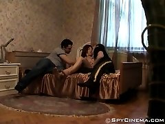 Spying on two guys fucking a horny girl