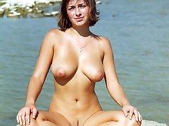 Shameless nudist girls with huge tits