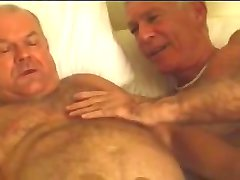 Sexy three mature old men
