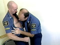 Hot gay policemen John Whethers and Jorgen Varg get their stiff hot rods stuffed into each...