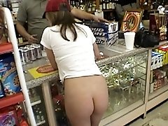 Crazy homegirl shows her naughty bits in public
