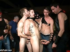 The Folsom Weekend party continues as Bryan Cole is zipped up in a body bag and brought out for...