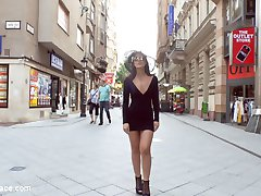 19 year old Bella Beretta is ready to push her sexual limits. Her tight ass and perky tits make her an object of desire wherever she goes. The eyes of men and women follow her even when she isn't wearing a slutty dress. Fetish Liza exploits Bella's youth and innocence, parading her through a local Budapest market. Shopkeepers and delivery men grab their phones to capture a snapshot of Bella's exposed cunt. After Bella's marketplace humiliation, Liza takes Bella to a small pub in search of some cock to stuff in Bella's tight pink pussy. Bound in rope Bella's swollen pussy is repeatedly groped by excited bar patrons. Men push up against the open window to watch Bella get passed from one cock to the next, filling her mouth and dripping fuck hole. Finally after being completely used up Bella get her reward of a mouth full of cum. Another Public Disgrace fantasy actualized.