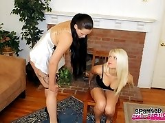Anikka Albrite and Mary Jane Spank Each Other