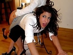 2 schoolgirls thrashed severely OTK and with the wooden paddle