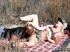 Tight body big bush babe gets her juicy pussy and asshole pounded hard on this camping trip in...