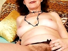 Mature babe Hana has a full bush of pussy fur you would swear it has not seen a razor in 10...