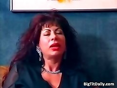Incredible redhead MILF with huge tits part1