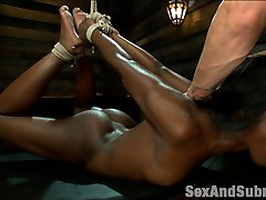 Sexy Ana Foxxx has a body to die for and enjoys hard bondage and rough sex dished out by Mr....