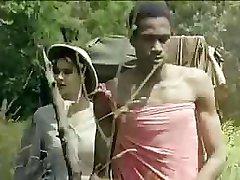 Tarzan rams his oversized love club deep into Jane's wet slit