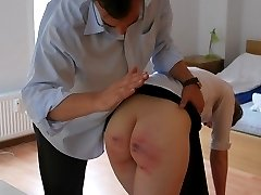Yet the next spanking - on a bottom still swollen from last time