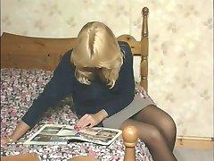 British slut Elle plays with herself in various scenes