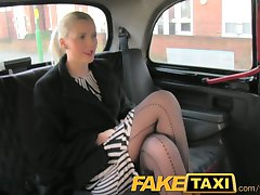 FakeTaxi Sexy business woman falls for his scam