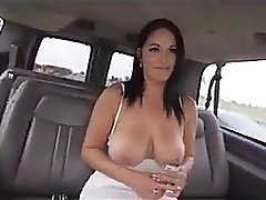 Brunette fucked on the bus