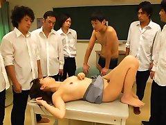 Shoko Akiyama Asian busty gets cum on mouth JpTeacher.com
