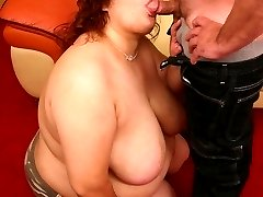 Horny bbw Reyna showing off her queen sized tits and takes hard cock pounding in her pussy