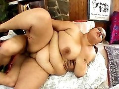 Huge tits fatty enjoys hard fuck