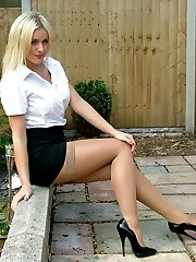 May be you have just seen a girl like Amy walking along your local high street in very high heels and a short tight skirt. You felt your passion rising but you just couldn\'t get a good enough look at her to fulfil your desires. Well here\'s your chance to show your affection to Amy