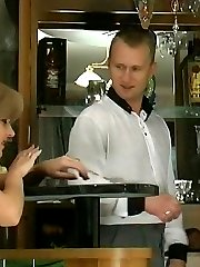 Steamy mom can do everything in frantic fuck-n-suck action with her barman