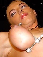 bdsm amateur tits torture