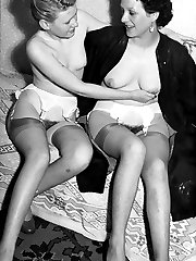 Girls getting sexy in nylons, panties around their ankles!