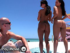 This week on assparade we congregated at the nude beach here in Miami. Joining me on the wild...