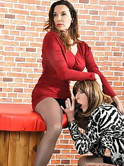 Crossdresser Emily Holiday craves Janes huge strapon cock everyday, so todays her lucky day as...