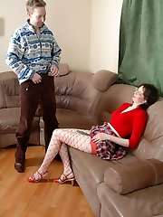 Hot guy curious for new experience in ass-ramming with strap-on armed babe
