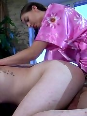 Shy girl puts to test a new strapon toy on her lusty anal-loving boyfriend