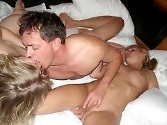 Russian swinger wife Gang Bang photos