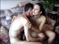 Thomas pound into his wifes pussy making her gasp with each thrust