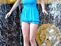 Girls enticing with nasty upskirts