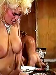 Retro blondes in group sex