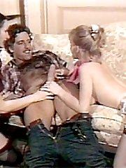Retro ladies in threesome
