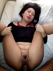 Bitch gets banged in an interracial threesome